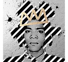 Silver Basquiat Photographic Print