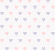 Pattern with hearts in pastel colors by Nataliia-Ku