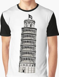 Leaning Tower of Pisa Graphic T-Shirt