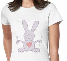 Hungry Bunny Womens Fitted T-Shirt