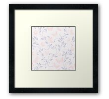 floral pattern in doodle style with butterflies Framed Print
