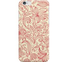 Floral pattern in doodle style in retro colors iPhone Case/Skin