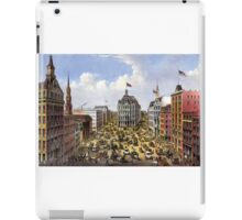 Broadway, New York From the western union telegraph building looking north - 1875 - Currier & Ives iPad Case/Skin