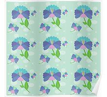 Flower 216 blue Poster