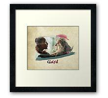 Clexa - The 100 - brush Framed Print