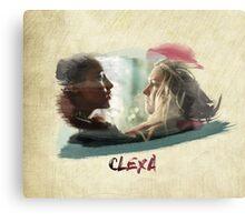 Clexa - The 100 - brush Canvas Print