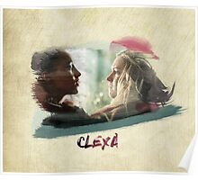 Clexa - The 100 - brush Poster