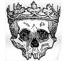 Crowned Skull Poster