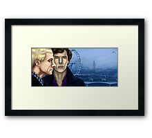 The two of us against the world Framed Print