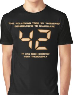 42: The Answer Graphic T-Shirt