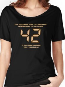 42: The Answer Women's Relaxed Fit T-Shirt