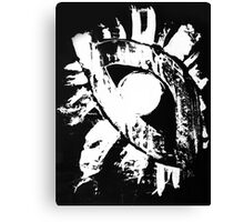 monochrome white eye on black background Canvas Print