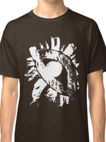 monochrome white eye on black background Classic T-Shirt