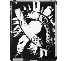 monochrome white eye on black background iPad Case/Skin