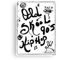 Rachel Doodle Art - Old-Skool 90's Hip-Hop Canvas Print