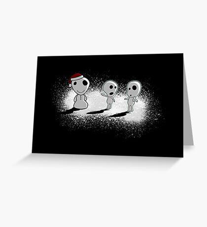 Snowdama Greeting Card