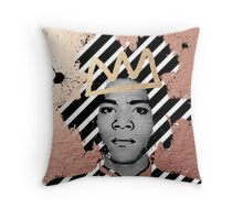 Copper Basquiat Throw Pillow