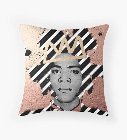 Copper Basquiat Throw Pillow