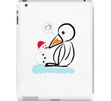 Penguin & snowman iPad Case/Skin