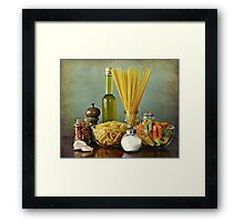 Aglio, olio peperoncino (garlic, oil, chili) noodles Framed Print