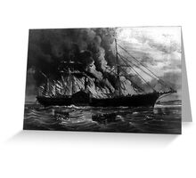 Burning of the steamship Golden Gate - 1862 - Currier & Ives Greeting Card
