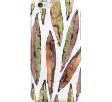 Watercolor Willow Leaves Pattern iPhone Case/Skin