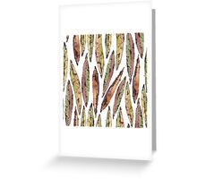 Watercolor Willow Leaves Pattern Greeting Card