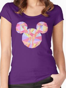 Sunset Pop Crystal Women's Fitted Scoop T-Shirt