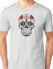 Souvenir from Mexico - Floral Skull Unisex T-Shirt