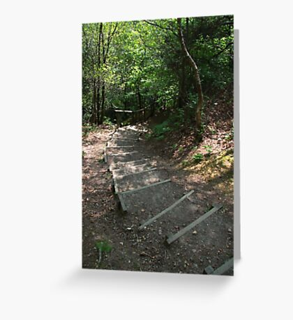 Walking down Leigh Hill Greeting Card