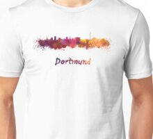 Dortmund skyline in watercolor Unisex T-Shirt