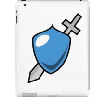 Shield & Sword Game Icon iPad Case/Skin