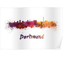 Dortmund skyline in watercolor Poster