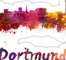 Dortmund skyline in watercolor Sticker