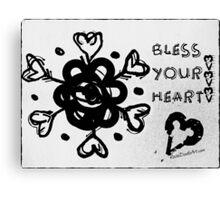 Rachel Doodle Art - Bless Your Heart Canvas Print