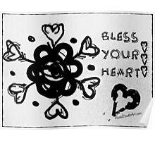 Rachel Doodle Art - Bless Your Heart Poster