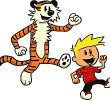 calvin and hobbes smile by danielklowor