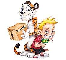 calvin and hobbes spy by danielklowor