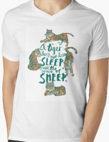 A Tiger Does Not Lose Sleep Mens V-Neck T-Shirt