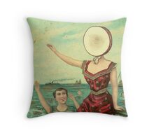 Neutral Milk Hotel - In the Aeroplane Over the Sea Throw Pillow