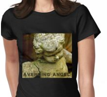 Avenging Angel (with lettering) Womens Fitted T-Shirt
