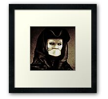 Spooky mask of Venetian tradition Framed Print