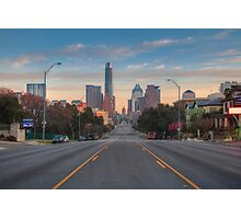 Austin Skyline and Capitol on a February Morning Photographic Print
