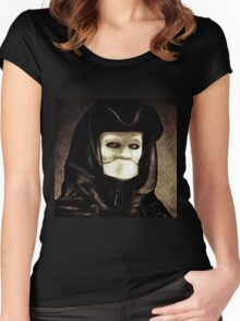 Spooky mask of Venetian tradition Women's Fitted Scoop T-Shirt