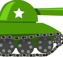 Cartoon Game Tank by tshirtdesign