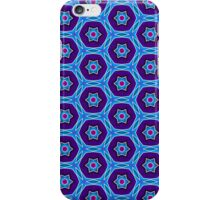 Pattern 68: Blue purple shapes and stars iPhone Case/Skin
