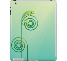 Chamouflaged green Chameleon lizard iPad Case/Skin
