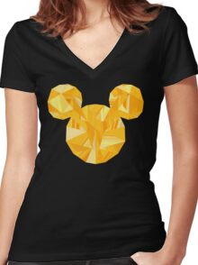 Pop Gold Women's Fitted V-Neck T-Shirt