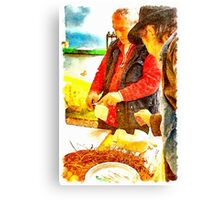 Farmer Market: cheese seller Canvas Print