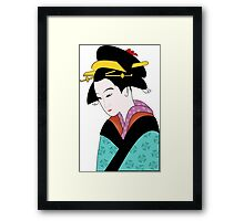 Woman in Traditional Kimono  Framed Print